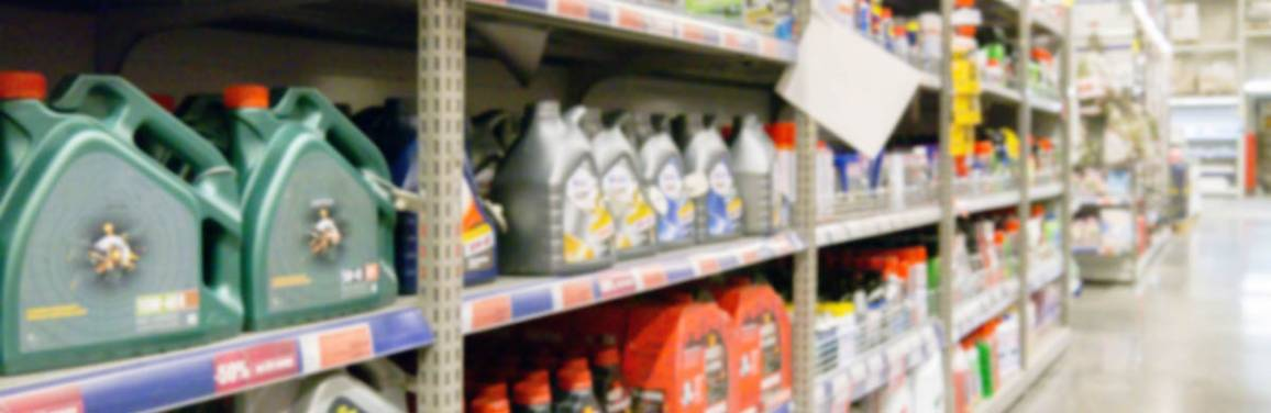 shelves of gasoline additives